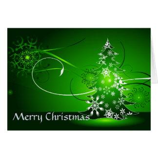 Bright Green Christmas Greeting Card
