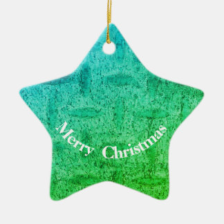 Bright green Christmas star ornament
