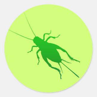 Bright Green Cricket Classic Round Sticker
