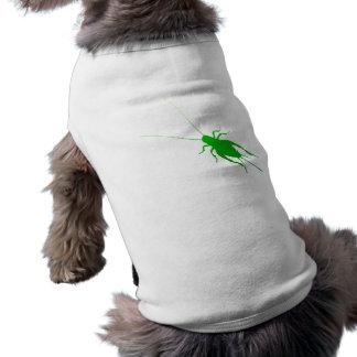 Bright Green Cricket Sleeveless Dog Shirt
