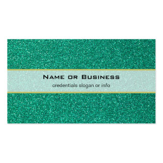 Bright Green Faux Glitter Texture Pack Of Standard Business Cards