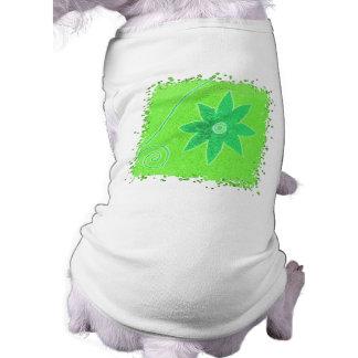 Bright green flower pet clothing