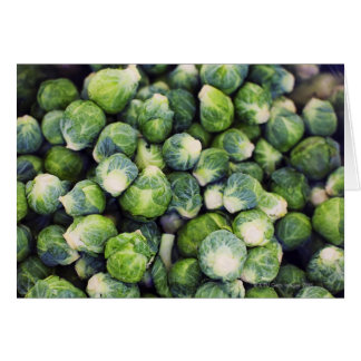 Bright Green Fresh Brussels Sprouts Card