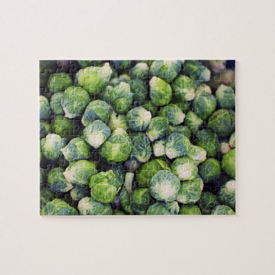 Bright Green Fresh Brussels Sprouts Jigsaw Puzzle