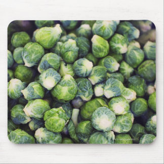 Bright Green Fresh Brussels Sprouts Mouse Mat