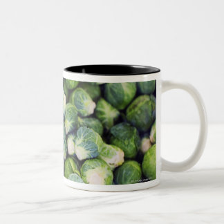 Bright Green Fresh Brussels Sprouts Two-Tone Mug