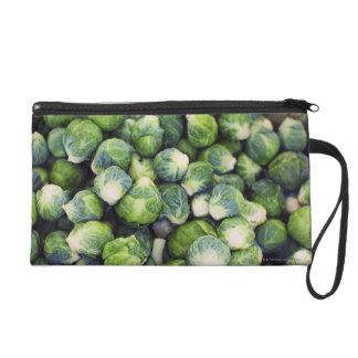 Bright Green Fresh Brussels Sprouts Wristlet Clutches