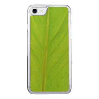 bright green fresh leaf carved iPhone 8/7 case