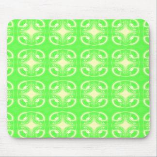 Bright Green Futuristic Pattern Mousepad
