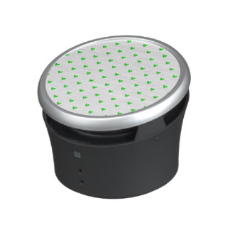 Bright Green Glitter Hearts Pattern Speaker