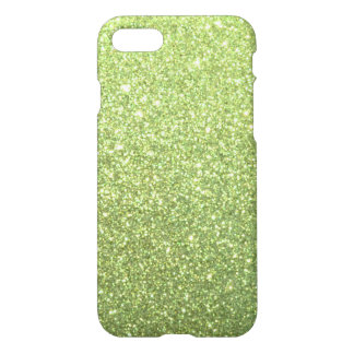 Bright Green Glitter Sparkles iPhone 7 Case