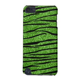 Bright green glitter zebra stripes iPod touch (5th generation) covers