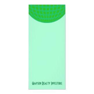 Bright Green Global Business 10 Cm X 24 Cm Invitation Card