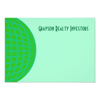 Bright Green Global Business Custom Announcements