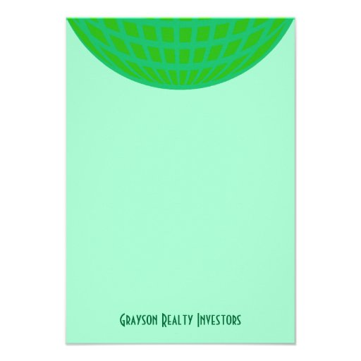 Bright Green Global Business Personalized Invitation