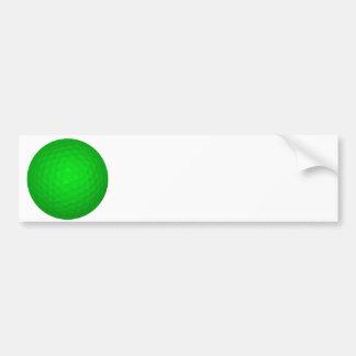 Bright Green Golf Ball Bumper Sticker