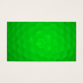 Bright Green Golf Ball Business Card