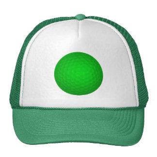 Bright Green Golf Ball Cap