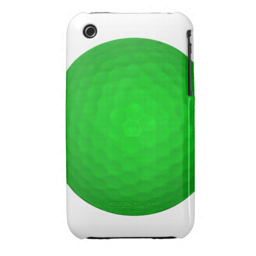 Bright Green Golf Ball iPhone 3 Case-Mate Case