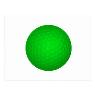 Bright Green Golf Ball Postcard