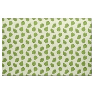 Bright Green Leaf Pattern Fabric