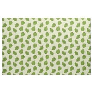 Bright Green Leaf Pattern Fabric