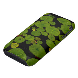 Bright green lily pads tough iPhone 3 cover