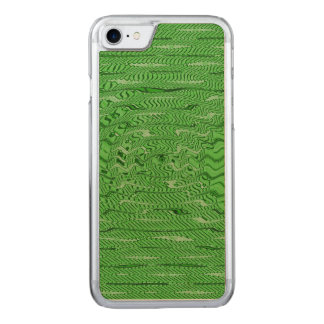 Bright Green Lines Pattern Carved iPhone 8/7 Case