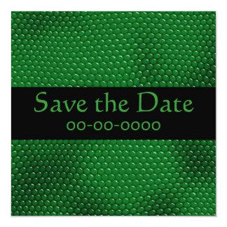 Bright green Lizard Skin Scales Invitations