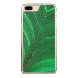 Bright green Malachite Mineral Carved iPhone 8 Plus/7 Plus Case