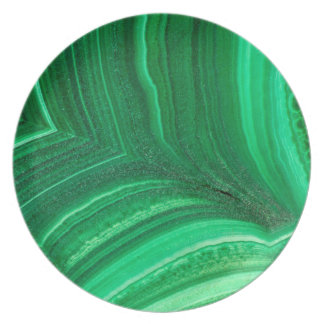 Bright green Malachite Mineral Plate