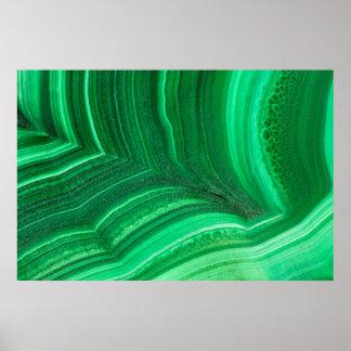 Bright green Malachite Mineral Poster