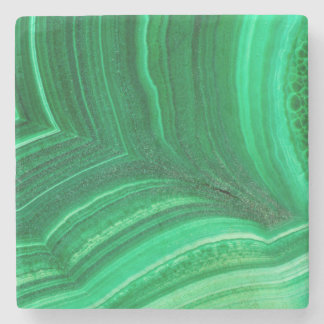 Bright green Malachite Mineral Stone Coaster