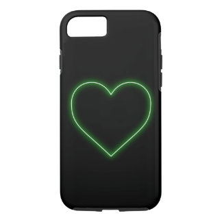 Bright Green Neon Heart - Love Valentines iPhone 8/7 Case