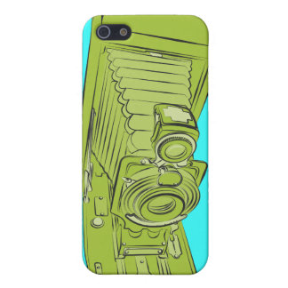 Bright Green Old Camera iPhone 5 Case