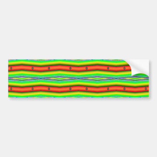 bright green orange bumper sticker