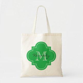 Bright Green Personalized Monogram