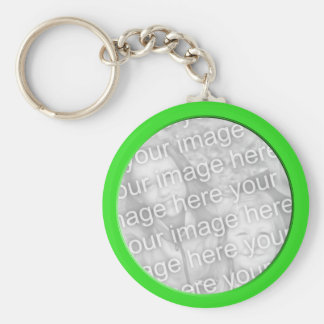 bright green photo frame key ring