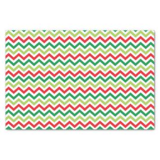 Bright Green & Red Chevron Tissue Paper