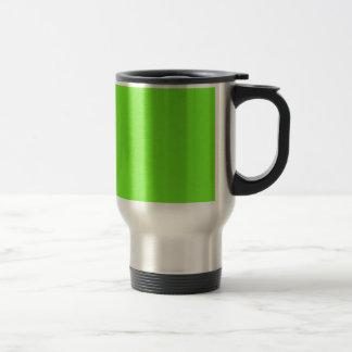 Bright Green Star Dust Travel Mug