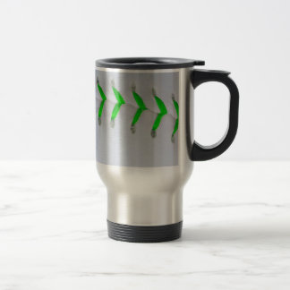 Bright Green Stitches Baseball / Softball Mug