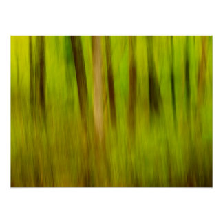 Bright Green Summer Abstract Print