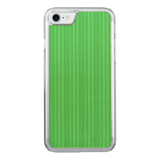 Bright Green Vertical Stripes Pattern Carved iPhone 8/7 Case