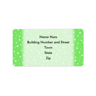 Bright Green with White Dots Pattern Label
