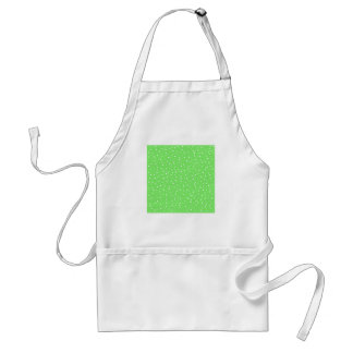 Bright Green with White Dots Pattern Standard Apron