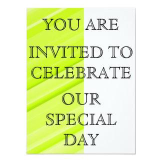 Bright Green/Yellow Stripe Invitation