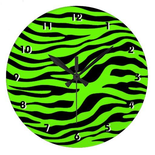 Green Zebra Print Bright Green Zebra Ani...