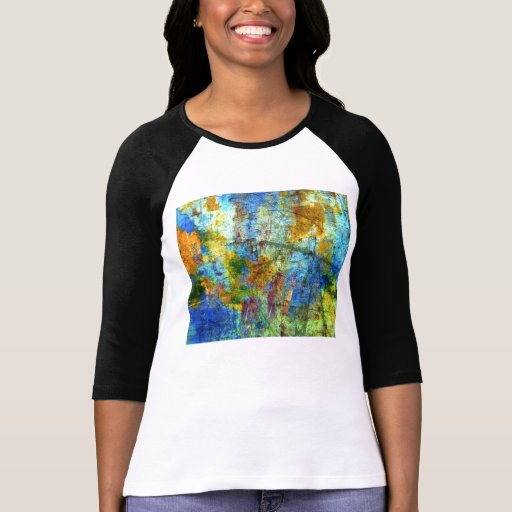 Bright Grunge Abstract Art T-shirt