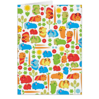 Bright Guinea Pig Patch Card