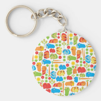 Bright Guinea Pig Patch Keychain